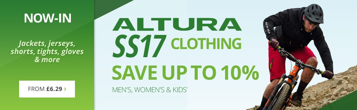 New Altura SS17 clothing | Save up to 10% on jackets, jerseys, shorts, tights, gloves & more | Spring & summer cycle clothing from everyone's favourite brand | Free UK delivery