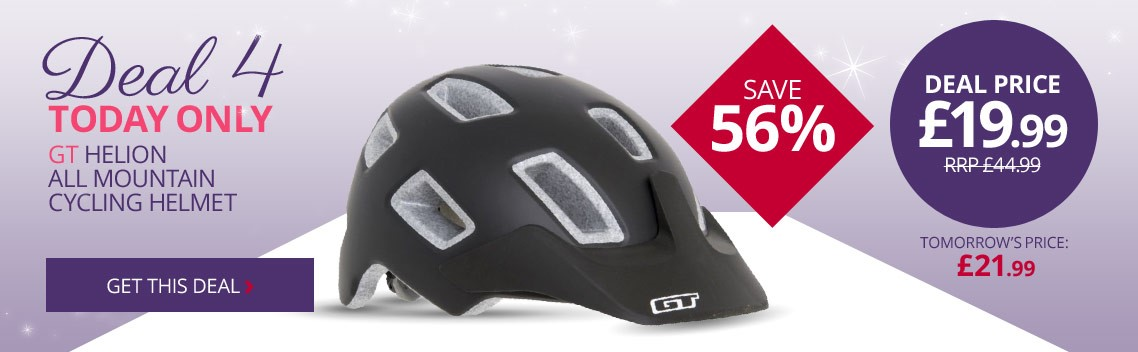 Daily deal 4 | Save 56% on this GT Helion All Mountain Cycling Helmet | Today only | Free UK delivery