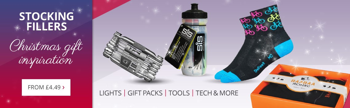 Christmas stocking fillers for cycling gifts | Gift packs, tools, socks, lights, clothing & more | From £4.49 | Free UK delivery