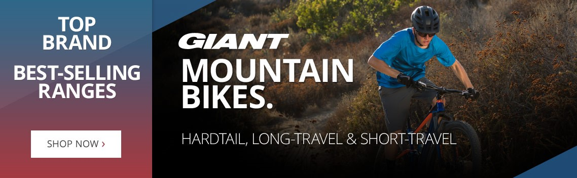 Giant Mountain bikes | Cycling's top brand | Best-selling ranges in hardtail, full-sus, short-travel & long-travel | Free UK delivery