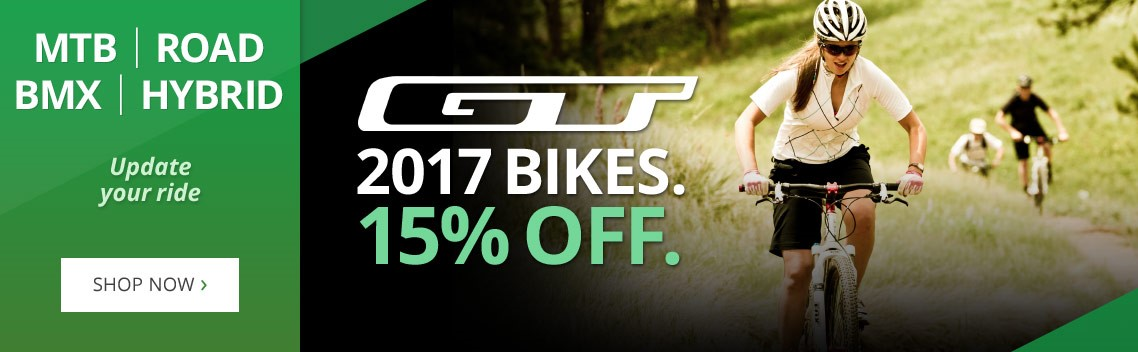 15% off GT bikes | MTB, road, hybrid & bmx bikes | Free UK delivery