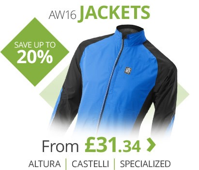 AW16 jackets from Castelli, Altura, Specialized and more | Save up to 20% | Free UK delivery