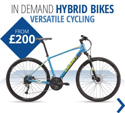 In demand hybrid bikes | Versatile cycling for spring and summer | Top brands like Dawes, Giant, Specialized & more from £200 | Free UK delivery