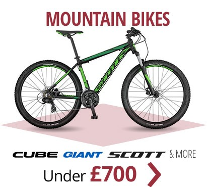 Mountain bikes under £700 | From Cube, Giant, Scott & more | Free UK delivery | Interest free finance available over £250