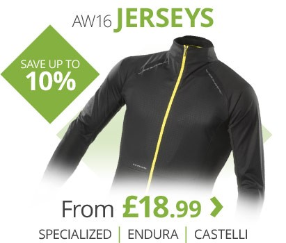AW16 jerseys from Endura, Specialized, Castelli & more | Save up to 10% | Free UK delivery