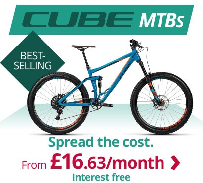 Best selling CUBE MTBs | Spread the cost from £16.63/m interest free | Free UK delivery