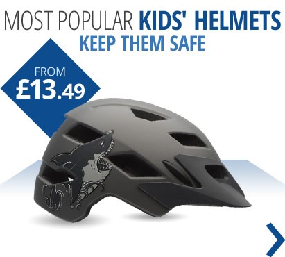 Most popular kids' helmets | Helmets for all ages and perfect for summer cycling | From £13.49 | Free UK delivery