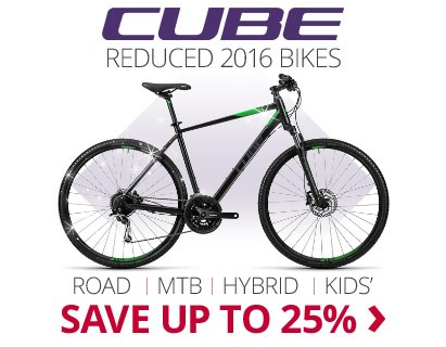 Reduced Cube 2016 Bikes | Save up to 25% | Free UK delivery | 0% finance available on orders over £250