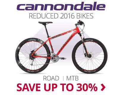 Reduced Cannondale 2016 Bikes | Save up to 30% | Free UK delivery | 0% finance available on orders over £250