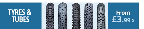 Tyres and tubes | Road and MTB tyres and tubes | From £3.99 | Free UK delivery