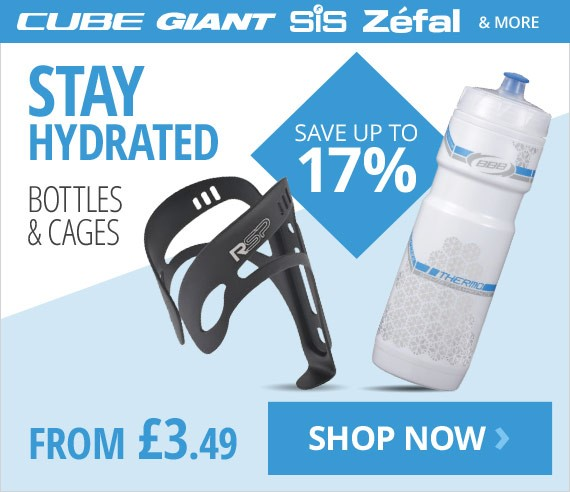 Bottles & cages | Stay hydrated on your ride | From £3.49 | Save up to 17% | Free UK delivery