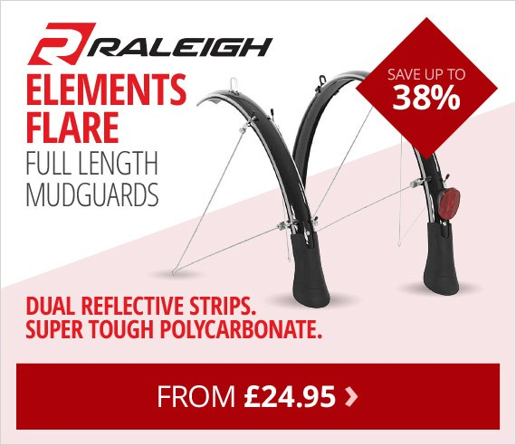 Raleigh elements flare full length mudguard set | Save up to 38% | Super tough & durable | From £24.95 | Free UK delivery
