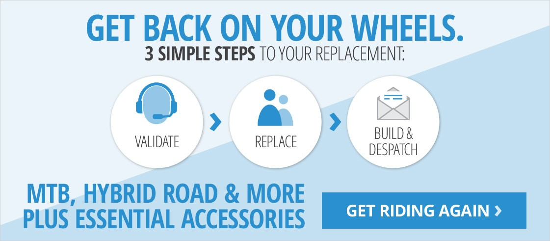 Get back on your wheels | All you need to know about your insurance replacement | Mountain bikes, road bikes, hybrids & more