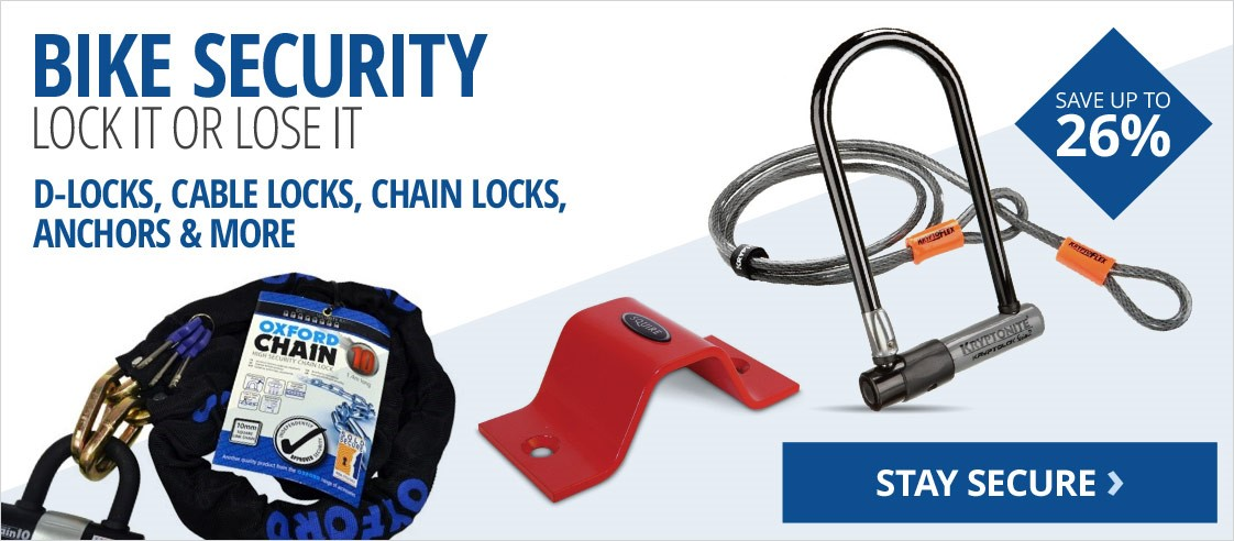 Bike security | D-locks, chain locks, anchors & more | Save up to 26%