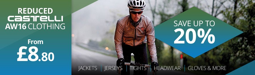 Save 20% off Castelli autumn and winter 2016 clothing