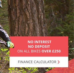 No interest, no deposit, on all bikes over £250 - Finance calculator →