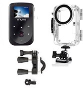 Image of Veho Muvi HD10 with Waterproof Case and Handlebar Mount