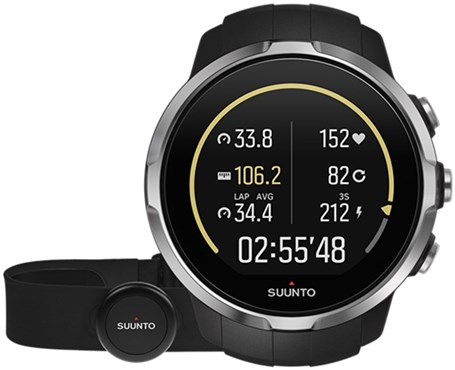 Spartan Sport Black (HR) Heart Rate and GPS Touch Screen Multi Sport Watch