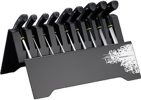 T Bar Hex Key Set with Metal Rack