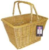 Image of ADIE Front Wicker Basket With Handle