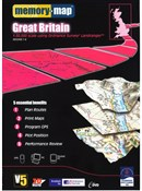 Image of Memory Map OS Landranger Standard Edition Great Britain V5 - DVD