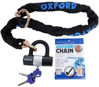 Image of Oxford Chain8 Sold Secure Pedal Cycle Silver Chain Lock With Padlock