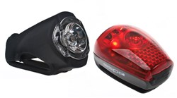 RSP 1 Watt Front USB Rechargeable and 3 LED Rear Lightset