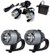 Image of RSP Asteri 2 x 1 Watt Rechargeable Front Headlight Set - 2 Pack