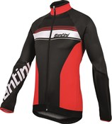 Image of Santini Fluke Long Sleeve Thermofleece Cycling Jersey
