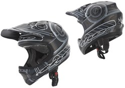 Image of THE Industries T2 Full Face Carbon Frequency Youth Helmet