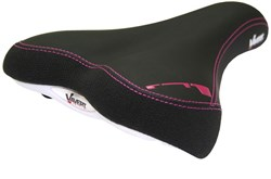 Image of Vavert Memory Foam Comfort Womens Saddle With Satin Steel Rails
