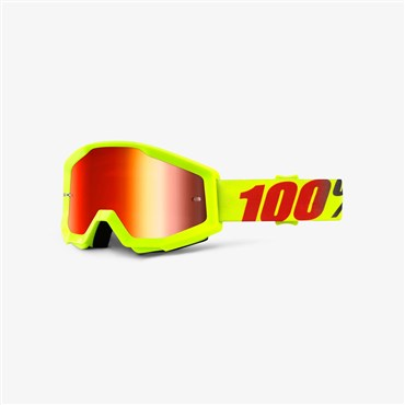 Image of 100% Strata Anti-Fog Mirrored Lens MTB Goggles