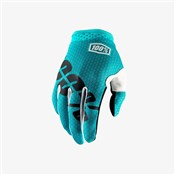 Image of 100% iTrack Youth Long Finger Cycling Gloves AW17