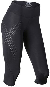 Image of 2XU Mid-Rise Womens Compression 3/4 Tights SS16