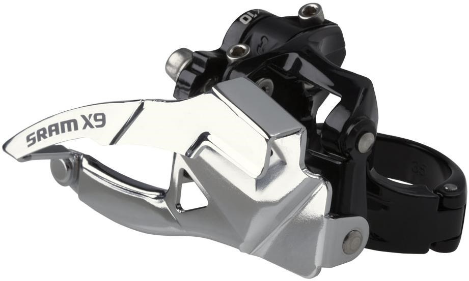 SRAM X9 Front Derailleur - 3x10 High Clamp