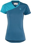 Scott Trail MTN V Neck Short Sleeve Womens Cycling Jersey