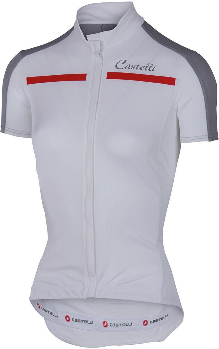 Castelli Ispirata FZ Womens Short Sleeve Cycling Jersey With Full Zip SS16