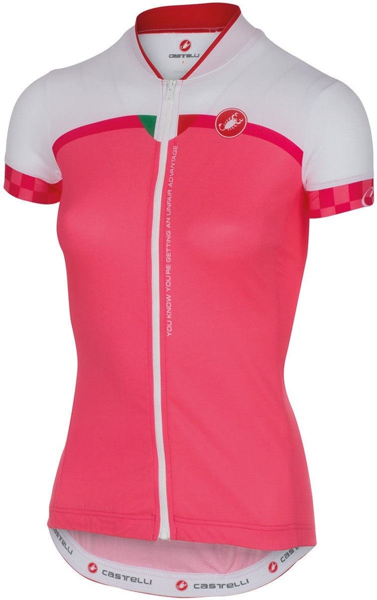Castelli Duello Womens Short Sleeve Cycling Jersey With Full Zip SS16