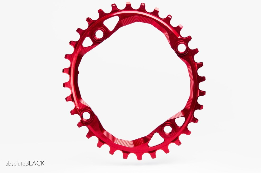 absoluteBLACK 104BCD Spider Mount Oval Chainring N/W - Integrated Threads