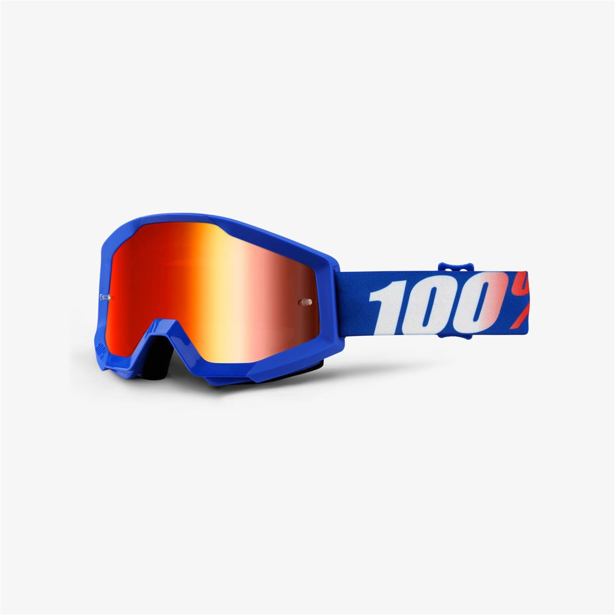 100% Strata Anti-Fog Mirrored Lens MTB Goggles