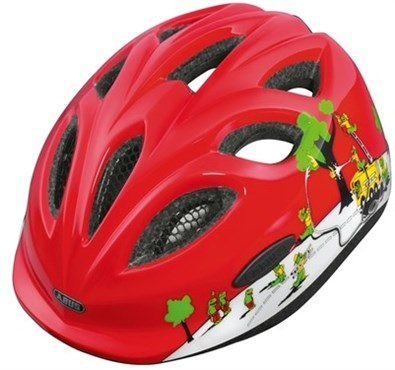 Image of Abus Smiley Kids Cycling Helmet With Rear Mounted LED Light 2016