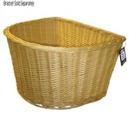 Image of Adie D-Shape Wicker Basket 16 Inch