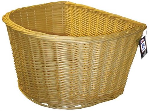 Image of Adie D-Shape Wicker Basket