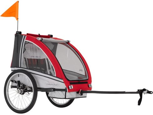 Image of Adventure AT6 Alloy 2 Seater Bicycle Trailer