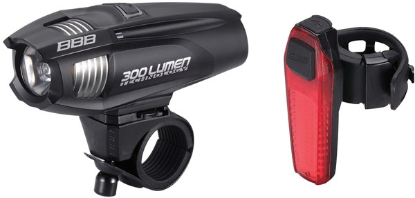 BBB Strike Combo 300lumen Front & Rear Light Set