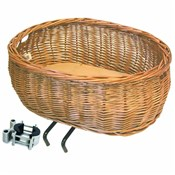 Image of Basil Pluto Wicker Front Dog Basket EDO Bracket Mounting