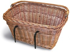 Image of Basil Wicker Rectangular Hook-On Front Basket