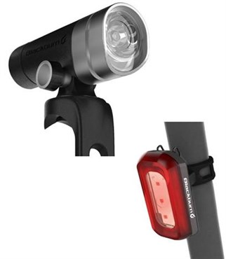 Image of Blackburn Central 300 Front + Rear 50 USB Rechargeable Light Set