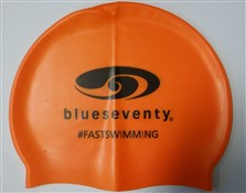 Image of Blueseventy B70 Logo Silicone Orange Cap With PVC Bag
