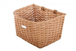 Image of Bobbin Cambridge Wicker D Shape Basket with Leather Straps